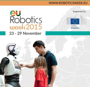 Stabilised 360° camera rig at the EU Robotics Week